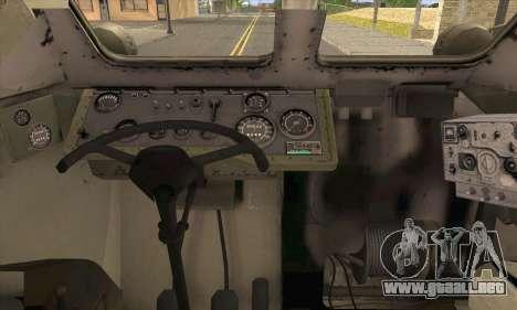 BRDM-2 from ArmA Armed Assault para GTA San Andreas vista posterior izquierda