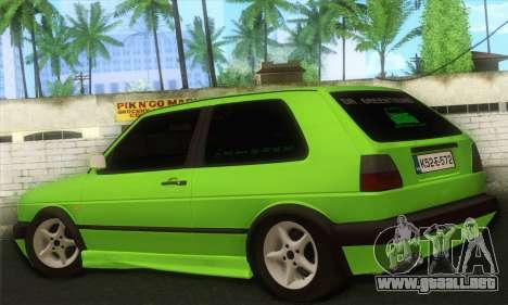 Volkswagen Golf Mk2 Zelengija para GTA San Andreas left