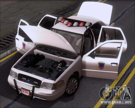 Ford Crown Victoria Tallmadge Battalion Chief 2 para vista lateral GTA San Andreas