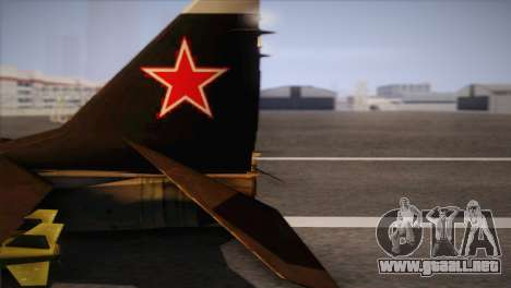 MIG 29 Russian Air Force From Ace Combat para la visión correcta GTA San Andreas