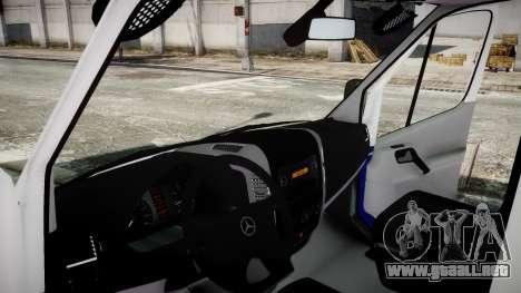 Mercedes-Benz Sprinter Police 2014 para GTA 4 Vista posterior izquierda