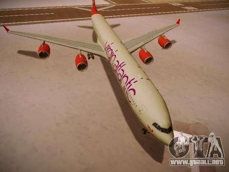 Airbus A340-600 Virgin Atlantic New Livery para GTA San Andreas left