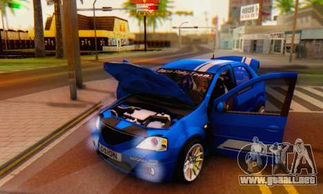 Dacia Logan Tuning Rally (B 48 CUP) para vista lateral GTA San Andreas