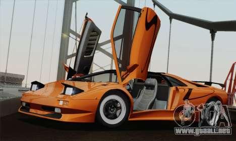 Lamborghini Diablo SV 1995 (HQLM) para GTA San Andreas vista posterior izquierda