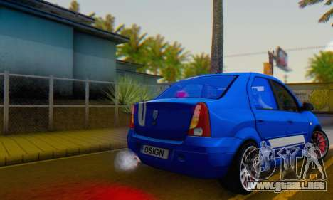 Dacia Logan Tuning Rally (B 48 CUP) para GTA San Andreas left