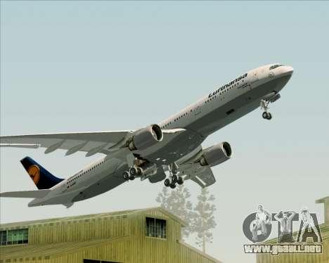 Airbus A330-300 Lufthansa para las ruedas de GTA San Andreas