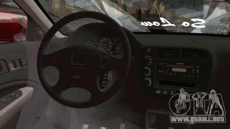 Honda Civic 1999 para GTA San Andreas vista posterior izquierda