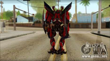 Dino Mirage (transformadores Oscuro de la luna)  para GTA San Andreas segunda pantalla