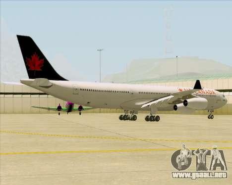 Airbus A340-313 Air Canada para la visión correcta GTA San Andreas