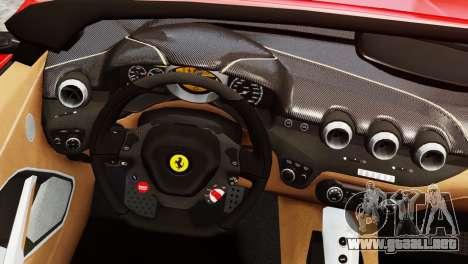 Ferrari F12 Roadster para GTA 4 Vista posterior izquierda