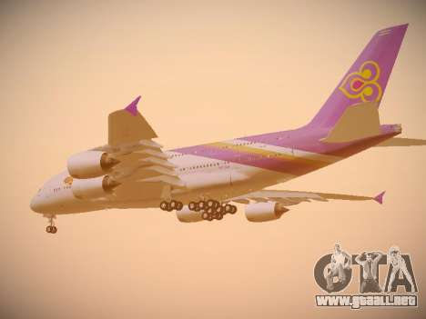 Airbus A380-800 Thai Airways International para GTA San Andreas vista hacia atrás