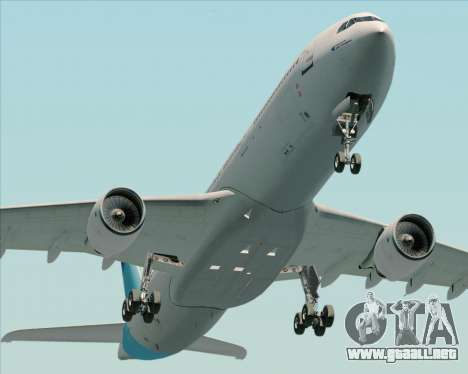 Airbus A330-300 Air Inter para GTA San Andreas vista hacia atrás