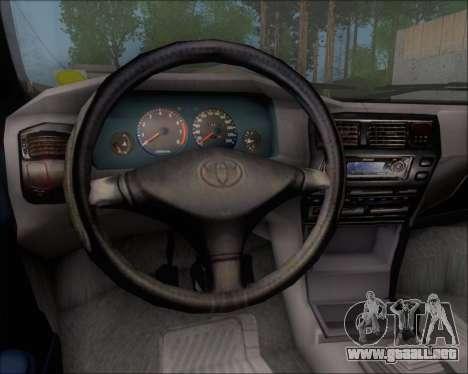 Toyota Corolla 1.6 para visión interna GTA San Andreas