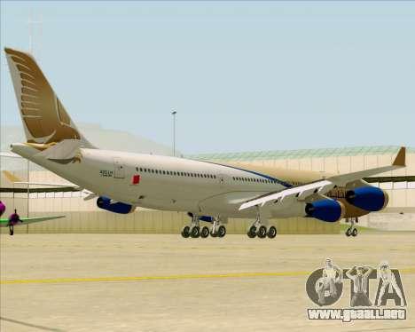 Airbus A340-313 Gulf Air para GTA San Andreas vista hacia atrás