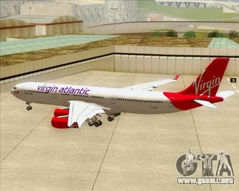 Airbus A340-313 Virgin Atlantic Airways para las ruedas de GTA San Andreas