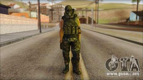 Claude Resurrection Skin from COD 5 v2 para GTA San Andreas