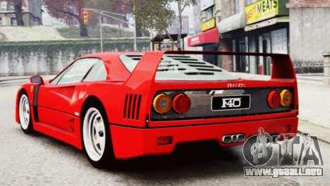 Ferrari F40 1987 para GTA 4 left
