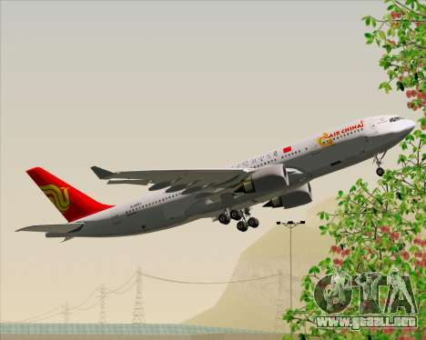 Airbus A330-200 Air China para vista lateral GTA San Andreas