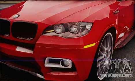 BMW X6M 2013 v3.0 para GTA San Andreas vista hacia atrás
