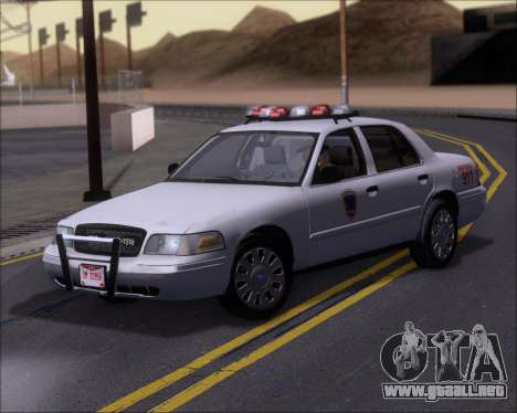 Ford Crown Victoria Tallmadge Battalion Chief 2 para GTA San Andreas left
