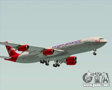 Airbus A340-313 Virgin Atlantic Airways para GTA San Andreas left