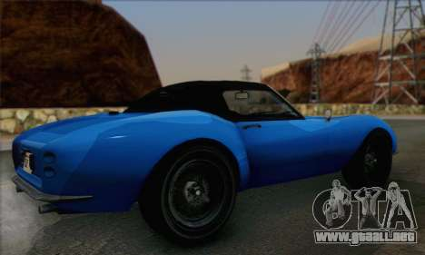 Grotti Stinger 1.0 (HQLM) para GTA San Andreas left