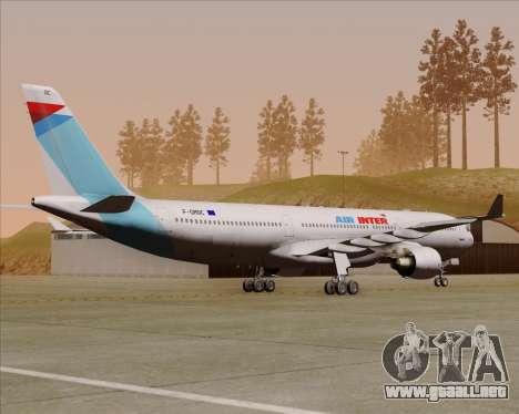 Airbus A330-300 Air Inter para la visión correcta GTA San Andreas