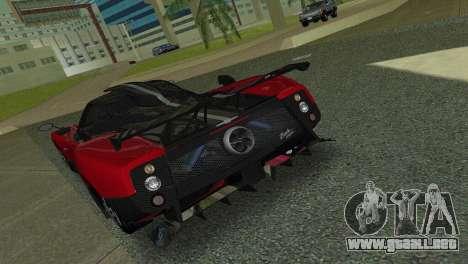 Pagani Zonda Cinque para GTA Vice City visión correcta