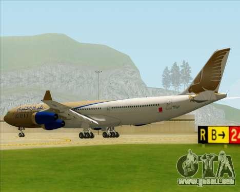 Airbus A340-313 Gulf Air para la visión correcta GTA San Andreas
