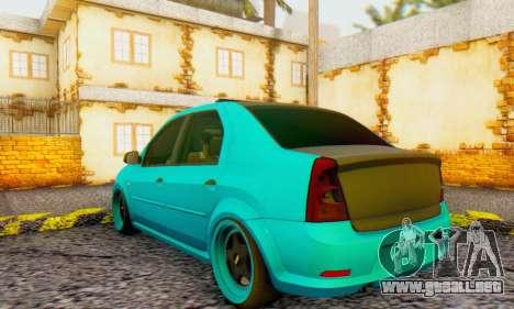Dacia Logan Pearl Blue para la visión correcta GTA San Andreas
