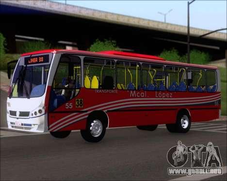 Neobus Spectrum Linea 38 Mcal. Lopez para GTA San Andreas left