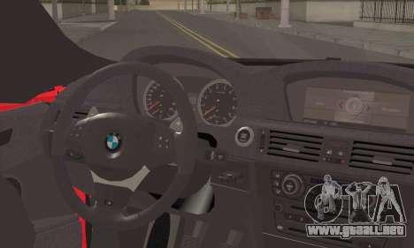 BMW X6M 2013 v3.0 para GTA San Andreas vista posterior izquierda