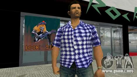 Kockas polo - sotetkek T-Shirt para GTA Vice City