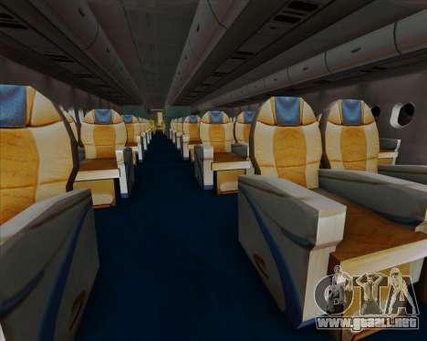 Airbus A380-841 China Southern Airlines para las ruedas de GTA San Andreas