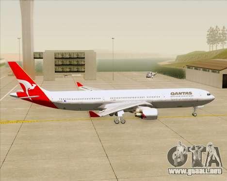 Airbus A330-300 Qantas para GTA San Andreas vista hacia atrás