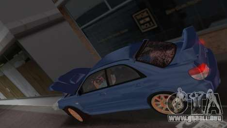 Subaru Impreza WRX STI 2006 Type 1 para GTA Vice City vista superior