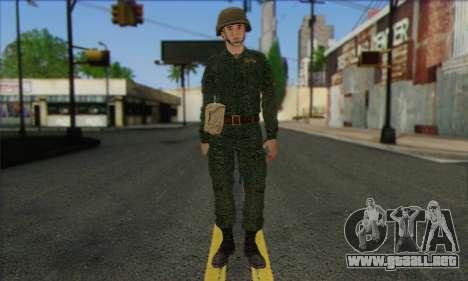 Motorizado Privado Rifle De Tropas. SAR v3 para GTA San Andreas