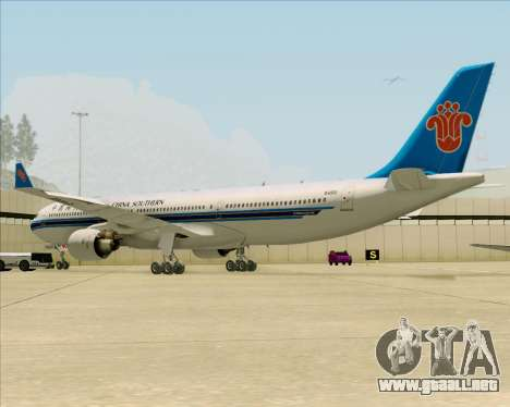 Airbus A330-300 China Southern Airlines para GTA San Andreas vista hacia atrás