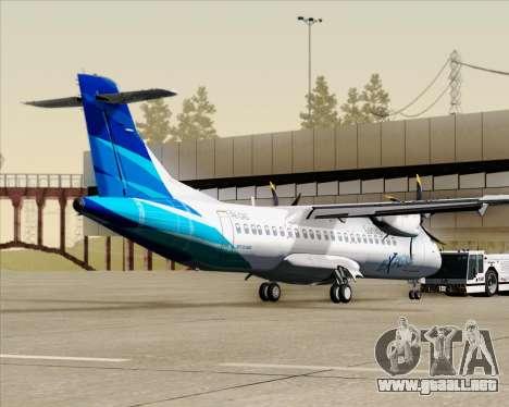 ATR 72-500 Garuda Indonesia Explore para GTA San Andreas vista posterior izquierda