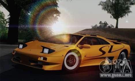 Lamborghini Diablo SV 1995 (HQLM) para visión interna GTA San Andreas
