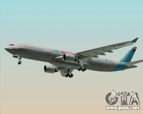 Airbus A330-300 Air Inter para visión interna GTA San Andreas