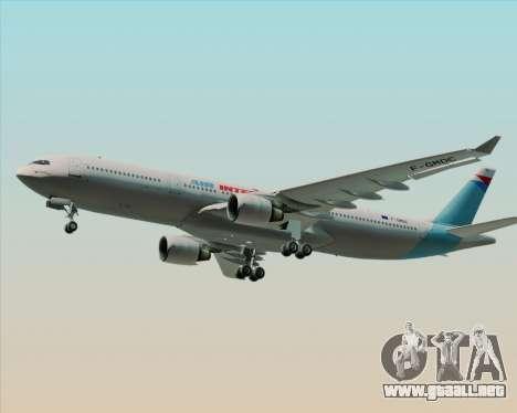 Airbus A330-300 Air Inter para visión interna GTA San Andreas