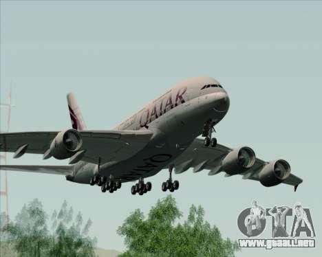 Airbus A380-861 Qatar Airways para la visión correcta GTA San Andreas