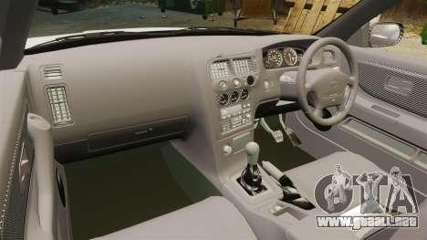 Nissan Skyline R33 1995 Infinite Stratos para GTA 4 vista hacia atrás