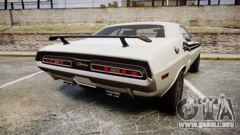 Dodge Challenger 1971 v2.2 PJ1 para GTA 4 Vista posterior izquierda