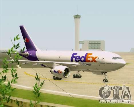 Airbus A310-300 Federal Express para GTA San Andreas vista hacia atrás