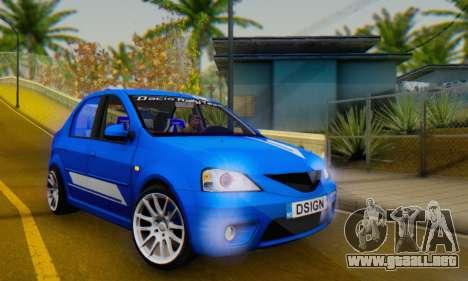 Dacia Logan Tuning Rally (B 48 CUP) para visión interna GTA San Andreas