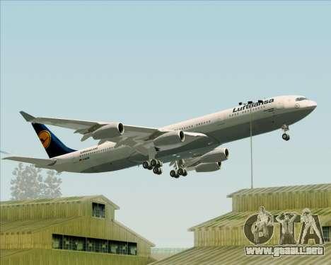 Airbus A340-313 Lufthansa para las ruedas de GTA San Andreas