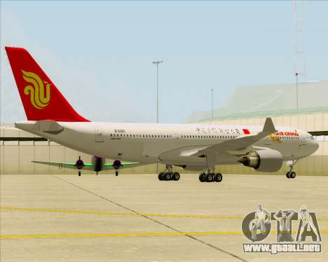 Airbus A330-200 Air China para GTA San Andreas vista posterior izquierda