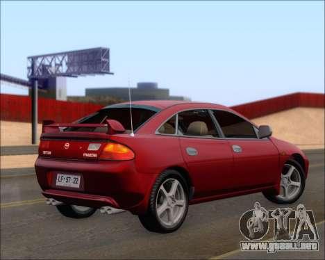 Mazda 323F 1995 para GTA San Andreas vista posterior izquierda